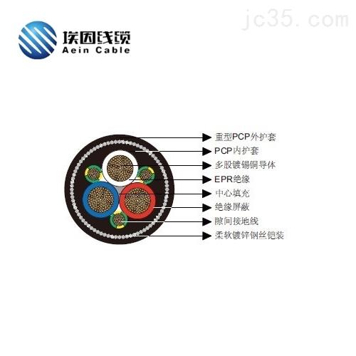 上海埃因Type412矿用电缆1.1KV卷筒CPE电缆
