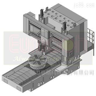 卧式龙门型五轴加工中心